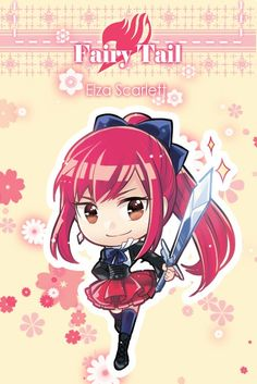 OMG! Chibi Erza is just as adorable (if not more adorable) than regular Erza!! #FairyTail #Erza #Scarlet