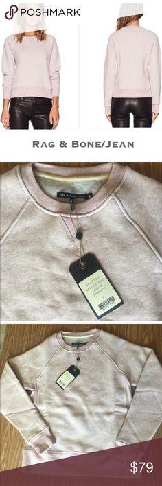 NWT rag and bone Ragland Langford Sweatshirt. Women's small   Reverse seams and ribbed trim styles this raglan sleeve sweatshirt from rag and bone Jean. rag & bone Tops Sweatshirts & Hoodies