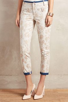 Jacquard Charlie Trousers #anthropologie