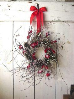 Pinecone/twig wreath