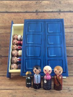 Doctor Who Peg People in journal box