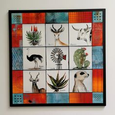 Shaggy, Fused Glass, Gallery Wall, Collage, Frame, Painting, Home Decor, Art, Picture Frame