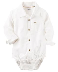 Baby Boy Oxford Button-Front Bodysuit | Carters.com