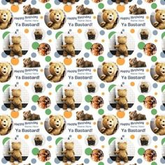 TED Personalised Gift Wrap / Wrapping Paper. Add your personalisation (NAME up to 15 characters) in the gift messaging facility at checkout.: Amazon.co.uk: Office Products