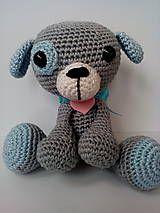 Hračky - Háčkovaný psík: TIP a TAP - 8064267_