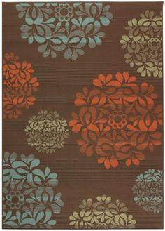 orange bronze blue area rug #home decorators