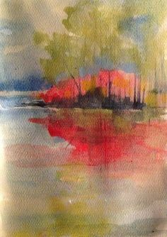 Red Reflections Study #1 Watercolor RMBookhout