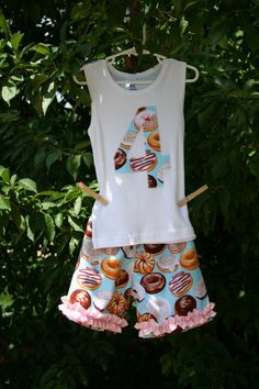Donut Birthday Pajamas Girls Pajamas Pajama by AnneMaddoxBoutique, $32.00