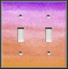 Nursery Decor Ideas - Switch Plate Cover - Ombre Purple Pink Melon  #LunaGallerySwitchPlates