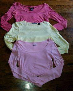 Women s Set of 3 Medium Long Sleeve Shirts, Liz Claiborne, I-N-C, Express EUC!