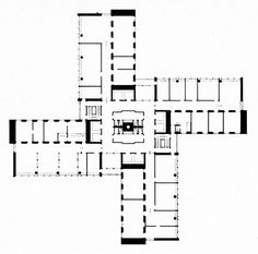 Paul Hedqvist, Office Building for the Tax Servicing and Debiting Department, Floor Plan, Stockholm, Sweden, 1960