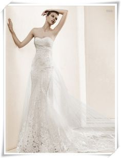 945d3f5a70 2013 new arrival wedding dress formal dress tube top elegant aesthetic slim  waist lace fish tail