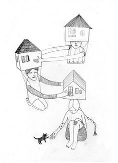 Houses by Mathilde Aubier Hmmm - there's a story in this somewhere!