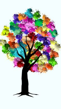 #14x4 Tree color splater