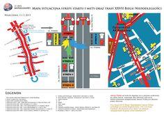 Mapka sytuacyjna 27 Bieg Niepodległości - trasa, strefa startu i mety,