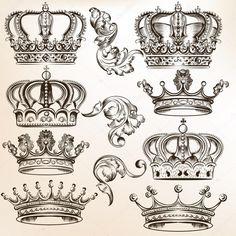 Baixar - Coleção de vetores detalhados coroas — Ilustração de Stock #46483511