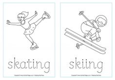 Free Winter Olympics printables for each sport. Fun!
