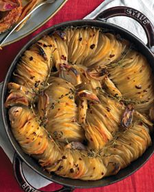 If you have a mandolin, it would make quick work of slicing these potatoes...so pretty to add to an oven meal....a nice addition to breakfast meal, too.