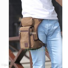 Unisex Canvas Leg Bag