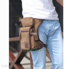 Unisex Canvas Leg Bag