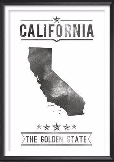 California State Typography Print