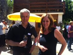 Nadia Mathier together with our manager Georges Beutler Wine Tasting, Switzerland