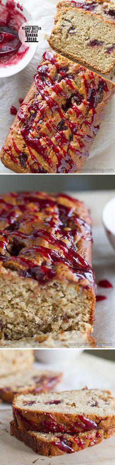 Peanut Butter and Jelly Banana Bread