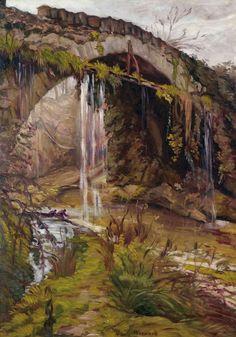 Émile Bernard (1868-1941) Paysage près de Limoux avec un vieux pont (1927)…