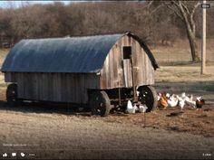 Traveling chicken coop on Mc Dowell creek road, Manhattan Kansas Manhattan Kansas, Home On The Range, Raising Chickens, Coops, Wonderful Places, Barns, Tractor, Kansas City, Buildings