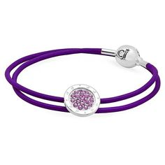 A little charm for a big impact - CJ Minimalista Purple Defiance from our Minimalista Collection  http://www.caterinajewelry.com/product/cj-minimalista-white-opal-ingenuity-leather-bracelet/  #caterinajewelry #silverjewelry #silvercharmjewelry #bracelet #