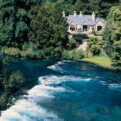 Huka Lodge is a Wedding Venue in Wairakei, Waikato, New Zealand. See photos and contact Huka Lodge for a tour. Huka Lodge, New Zealand Country, Luxury Accommodation, Luxury Lodges, New Zealand Landscape, Lake Forest, Best Hotels, Family Travel, Travel Destinations