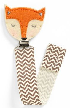 Mud Pie 'Fox' Pacifier Clip available at #Nordstrom