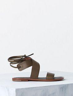 CELINE 10MM Ankle Strap Sandal