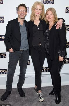 She even looks glamorous in runners! Nicole Kidman goes casual in jeans and Converse at Bi...