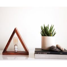 Triangle Lamp by @roseandfitzgerald