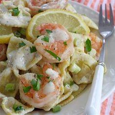Shrimp Pasta Salad With a Creamy Lemon Dressing - Allrecipes.com
