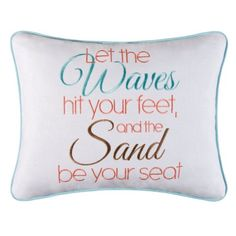 Let the Waves Hit Your Feet And The Sand Be You Seat Pillow Home Decor >>> You can find out more details at the link of the image. Note: It's an affiliate link to Amazon