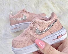 Check out our air force 1 custom selection for the very best in unique or custom, handmade pieces from our shoes shops. Baby Nike Shoes, Baby Girl Nike, Cute Baby Shoes, Baby Sneakers, Girls Sneakers, Cute Baby Girl, Kid Shoes, Girls Shoes, Luxury Baby Clothes