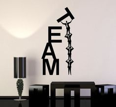 Vinyl Wall Decal Team Work Teamwork Office Business Word Stickers Unique Gift (i. Office Wall Design, Office Wall Decals, Office Walls, Office Art, Office Interior Design, Office Interiors, Vinyl Wall Decals, Wall Stickers, Office Designs