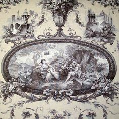 Toile du Jouy is one of the most detailed and intricate designs. It first appeared in the 18th Century in France and has since become a symbol of beauty and status. I love the precision, contrast, and it's heightened sense of realism. These pieces consist of exceptionally complex patterns that are commonly used in furniture, fashion, and even dinnerware sets.