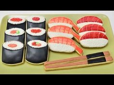 I made Sushi Cookies. In this video I show you how to decorate sushi cookie with royal icing and some white nonpareils. Enjoy. I love to bake, decorate cooki...