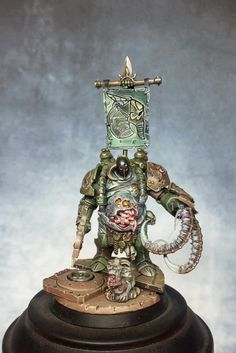 "scalefantasy: ""Nurgle Terminator converted & painted by BillyB """