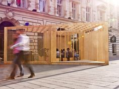 Timber Pavillion Bucharest Architecture Festival, Folly FieldTrip Studio completed an architectural intervention serving as a gathering space and urban think tank ...