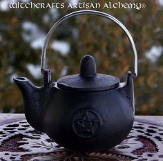 Witchcrafts Artisan Alchemy - PENTAGRAM Cast Iron Kettle, $18.95 (http://www.witchcraftsartisanalchemy.com/pentagram-cast-iron-kettle/)