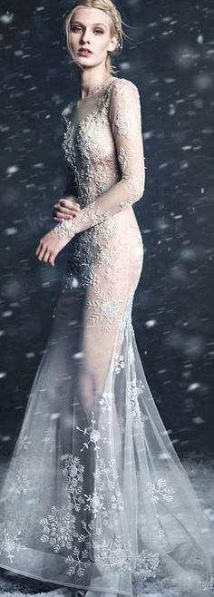 Paolo Sebastian ~ The Snow Maiden Campaign Beautiful beading! Perfect Bride, Queen Fashion, Gowns Of Elegance, Prom Dresses, Wedding Dresses, Dress Collection, Bridal Collection, Couture Dresses, Beautiful Gowns