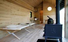 A Muji hut - by Naoto Fukasawa Muji Hut, Wooden Hut, Naoto Fukasawa, Japanese Lifestyle, Tokyo Design, Weekend House, Cabin Interiors, Little Houses, Tiny Houses