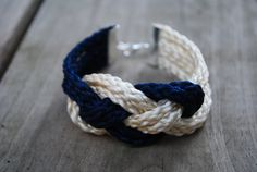 Nautical Knot Bracelet - Navy & Tan. $10.00, via Etsy.