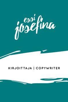 Tule tutustumaan blogiini! Aiheina kieli, kirjoittaminen ja copywriting.
