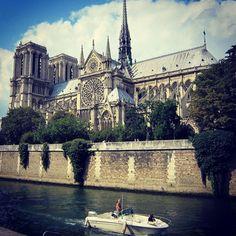 Notre Dame de Paris view from #SeineRiver #VisitParis #Pariscityvision #notredamedeparis #paris #parisjetaime