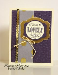 Stamp 4 fun with Selene Kempton: 3/29 Stampin' Up! You're Lovely and Sweet Sorbet Paper